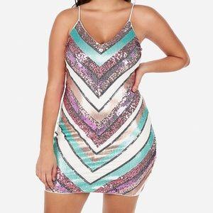 NWT Express Sequin Bodycon Dress